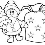 Babbo Natale Albero da Colorare
